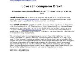 Nro 1 kilpailuun ★☆ Write an Awesome Press Release related to Brexit & Dating ☆★ käyttäjältä TimmyKuthiala