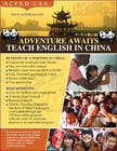 "Contest Entry #55 for Design a Flyer: ""Adventure Awaits - Teach English in China"""
