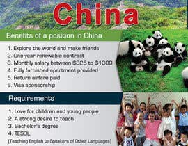 "Nro 41 kilpailuun Design a Flyer: ""Adventure Awaits - Teach English in China"" käyttäjältä IllusionG"