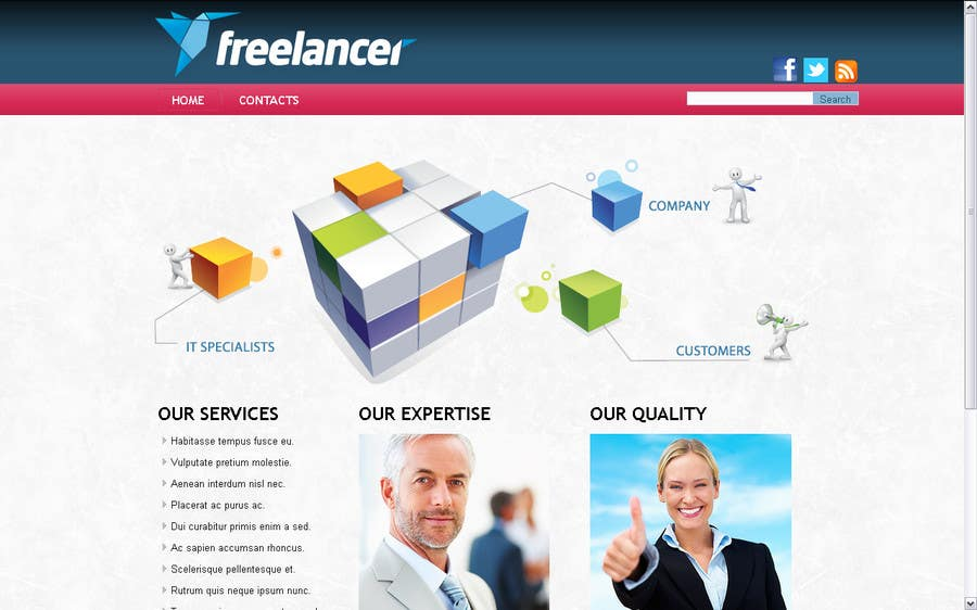 #1 for Design Freelancer.com's new Blog! by TomGaL