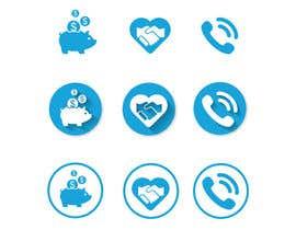 Nro 60 kilpailuun 3 Icons for Charity Website käyttäjältä luutrongtin89