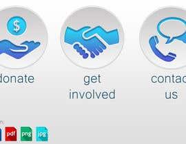 Nro 62 kilpailuun 3 Icons for Charity Website käyttäjältä Valdz