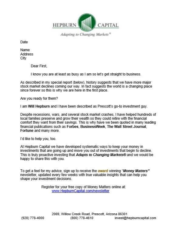 Kilpailutyö #25 kilpailussa Write a prospecting letter that will get responses.