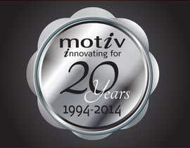 #70 para Design a Logo for 20th Anniversary of Motiv por dirak696