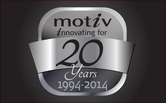 Inscrição nº 72 do Concurso para Design a Logo for 20th Anniversary of Motiv