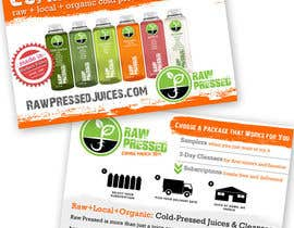 nº 18 pour Design a Flyer for Cold Pressed Juice par meredithmcdaris