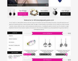 Nro 25 kilpailuun Design the fashion jewelry website mockup käyttäjältä greenarrowinfo