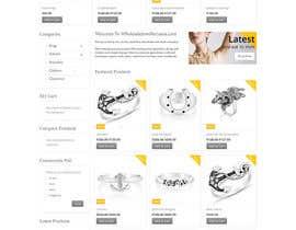 Nro 79 kilpailuun Design the fashion jewelry website mockup käyttäjältä SPYDERTECH