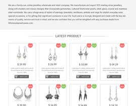 Nro 2 kilpailuun Design the fashion jewelry website mockup käyttäjältä webmastersud