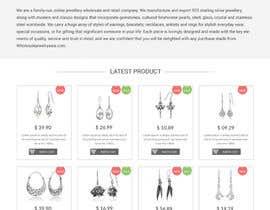 webmastersud tarafından Design the fashion jewelry website mockup için no 2