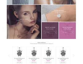 Nro 44 kilpailuun Design the fashion jewelry website mockup käyttäjältä styleworksstudio