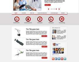 nº 5 pour Design of a new fresh webdesign for a medical company par zidan1