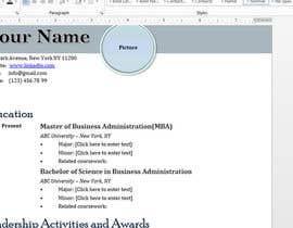 Nro 9 kilpailuun Easy to use - Word template for Resume käyttäjältä Sanobersaeed