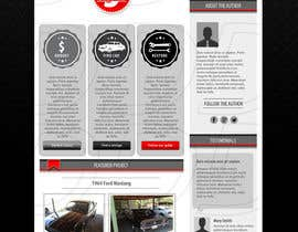 ntandodlodlo tarafından Design a Website Mockup for Classic Car Restoration Site. Layout provided. Just need your magical touches. için no 10