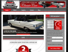 #11 cho Design a Website Mockup for Classic Car Restoration Site. Layout provided. Just need your magical touches. bởi ntandodlodlo