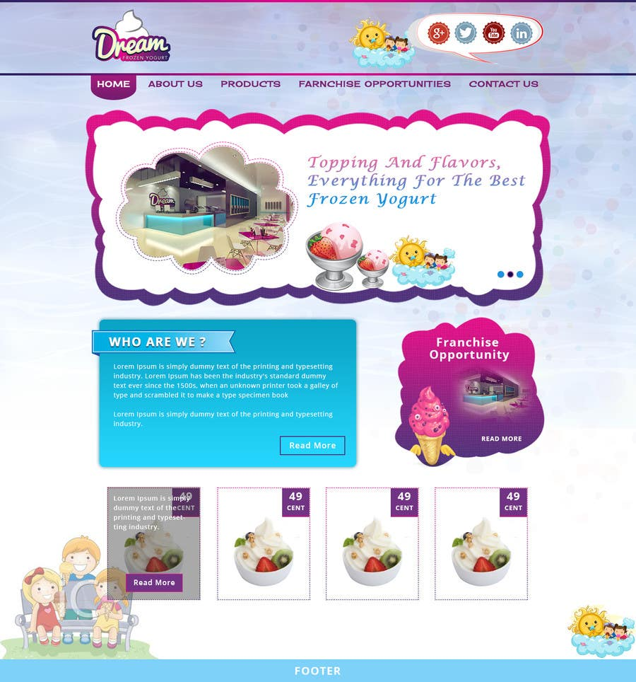 #16 for Yogurt website Home page by Patelasmi