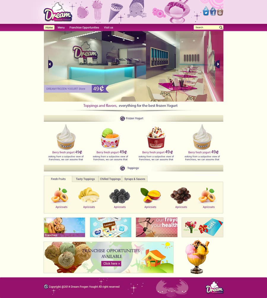 #38 for Yogurt website Home page by Patelasmi