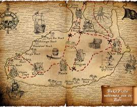 Nro 5 kilpailuun Illustrated Pirate's map of our Local Area käyttäjältä mihaicristian86