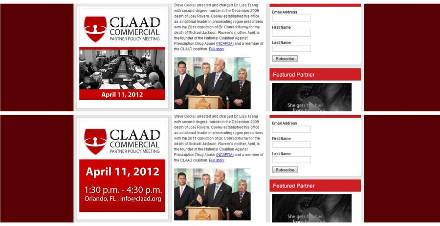Конкурсная заявка №41 для Banner Ad Design for Center for Lawful Access and Abuse Deterrence (CLAAD)