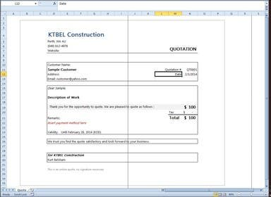 #27 for Do some Excel Work for KTBEL Construction by semaj0220