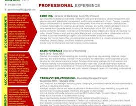 #13 untuk convert my resume to an eye catching graphic resume oleh angelajohnson70