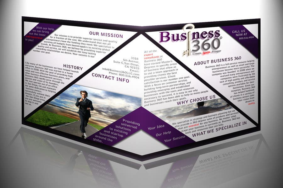 #42 for Brochure Design for Business 360 LLC by d1zzye