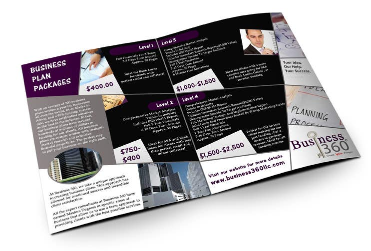 #33 for Brochure Design for Business 360 LLC by creationz2011