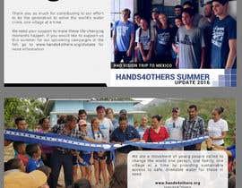 Nro 8 kilpailuun Hands4Others 8x8 Pamphlet käyttäjältä Biayi81