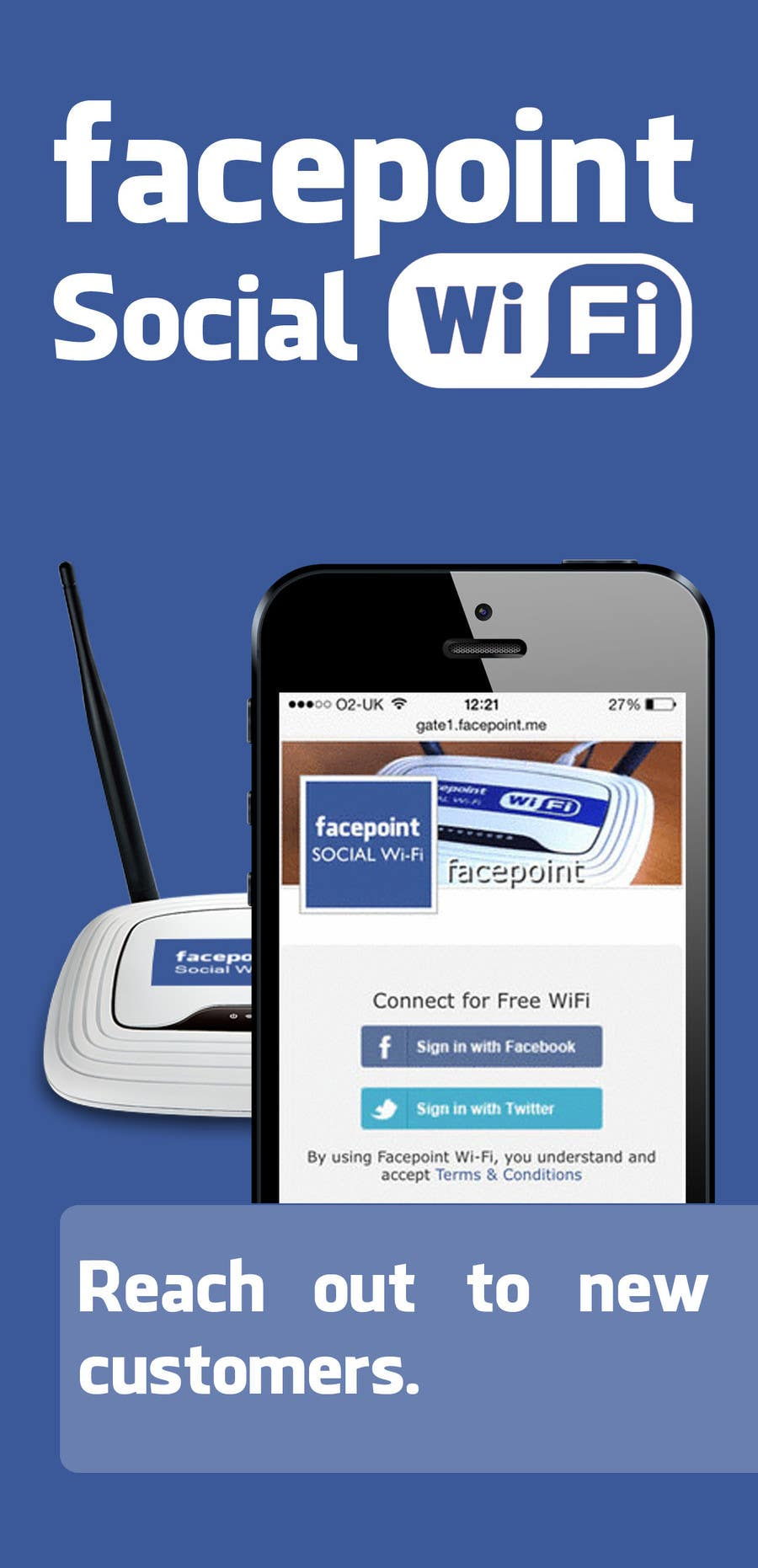 #9 for Design a Flyer for Facepoint Social Wi-Fi Router by p1nd1
