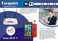 Contest Entry #14 for Design a Flyer for Facepoint Social Wi-Fi Router