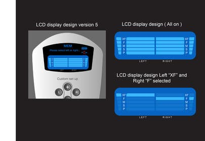 #21 for I need some Graphic Design to improve my current LCD display design for a remote control by davidliyung