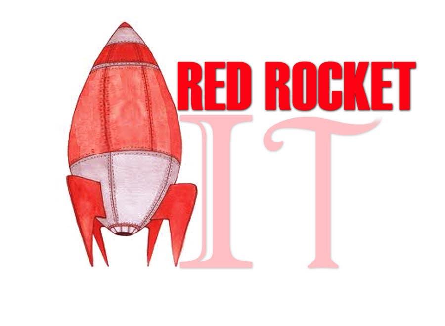 Entri Kontes #128 untukLogo Design for red rocket IT