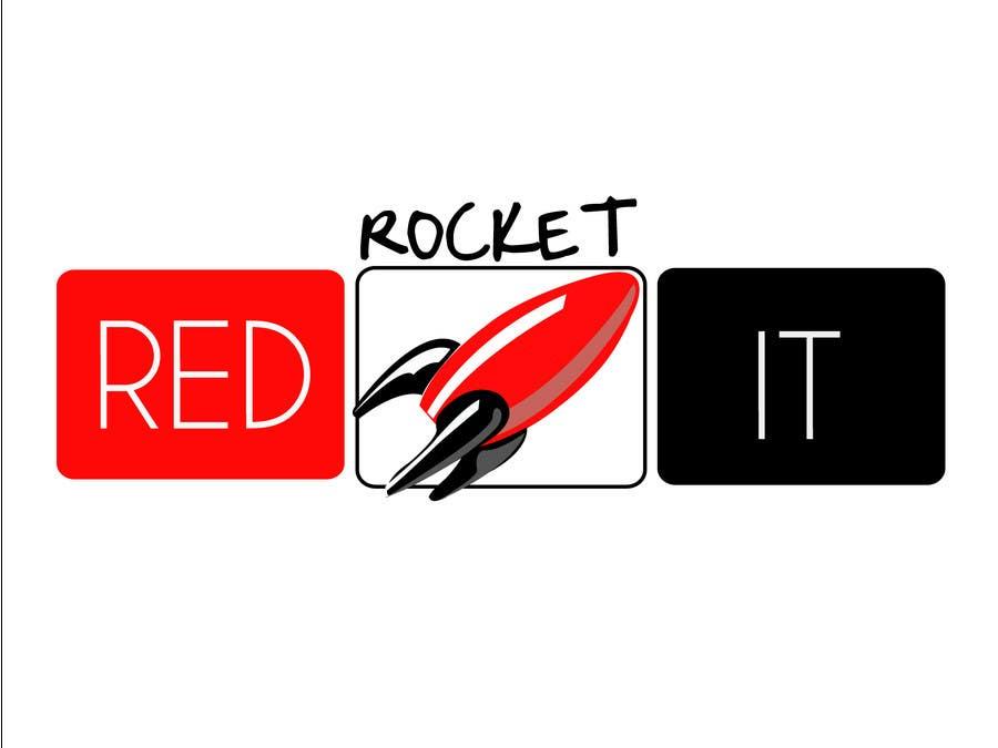 Entri Kontes #306 untukLogo Design for red rocket IT