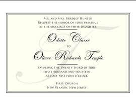#31 for ***VERY EASY** Design wedding invitations af cLinwood