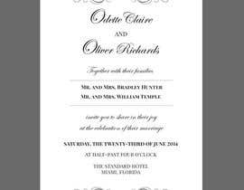 #12 for ***VERY EASY** Design wedding invitations af seguro
