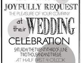 #15 for ***VERY EASY** Design wedding invitations af HerDarcy