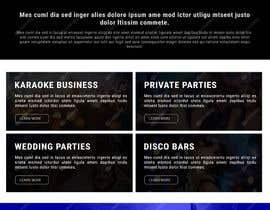 Nro 14 kilpailuun Bold-Dynamic-Creative Website Mockup Design For Karaoke Business That Pops For WordPress or PHP käyttäjältä viki001