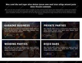 Nro 17 kilpailuun Bold-Dynamic-Creative Website Mockup Design For Karaoke Business That Pops For WordPress or PHP käyttäjältä viki001