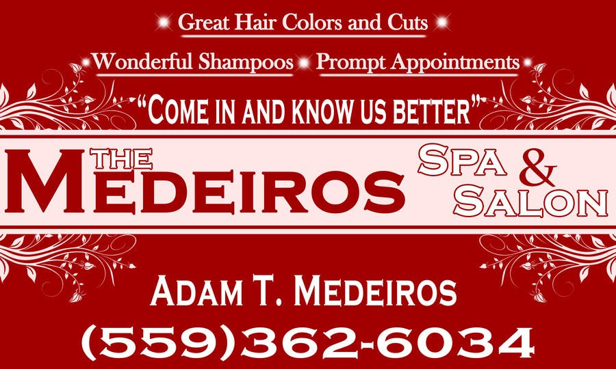 #154 for Design a Banner for a Salon and Spa by akritidas21
