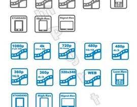 #14 untuk Design some Website icons for video encoding presets (symbolizing resolutions, devices) oleh sampyrtuh