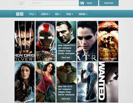 #18 para Design a Website Mockup for online movie collection por manishb1
