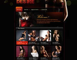 nº 15 pour Design web page for scorts woman (XXX) par solutionsbridge