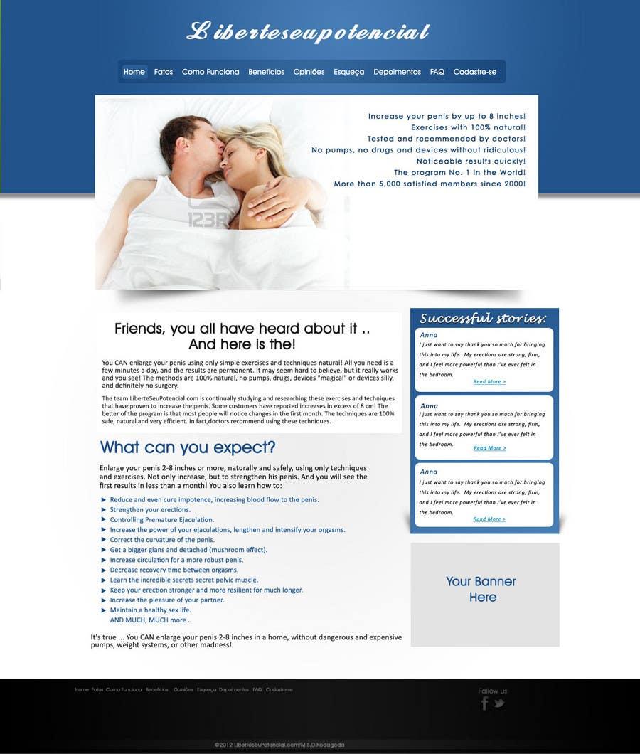 Kilpailutyö #                                        3                                      kilpailussa                                         HotSite Design for erectil disfunction ebook
