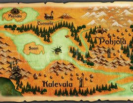 nº 19 pour FUN JOB: Illustrate a map for a Fantasy game based in old mythology par velmarph2001