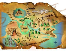 nº 18 pour FUN JOB: Illustrate a map for a Fantasy game based in old mythology par mainulislam85