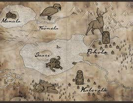 nº 9 pour FUN JOB: Illustrate a map for a Fantasy game based in old mythology par abdolilustrador