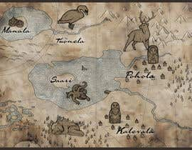 nº 11 pour FUN JOB: Illustrate a map for a Fantasy game based in old mythology par abdolilustrador