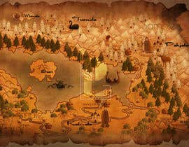nº 16 pour FUN JOB: Illustrate a map for a Fantasy game based in old mythology par igniphis