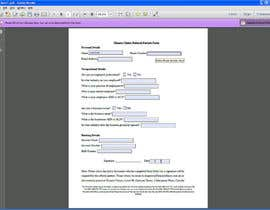 nº 4 pour Fillable form to be made in Word and PDF document. par designvin