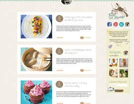 #21 para Design a website mockup for my foodblog (2 pages) por annahavana